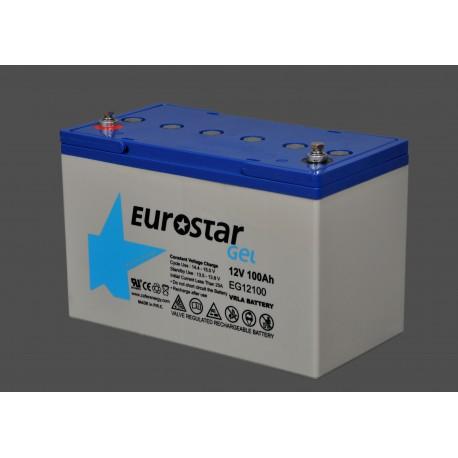 Eurostar 12V 100A Jel Tip Akü