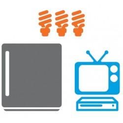 Güneş Enerjili Mini buzdolabı,Lamba,tv Paketi