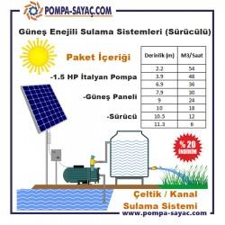 Çeltik / Kanal Güneş Enerjili Sürücülü Sulama Sistemi
