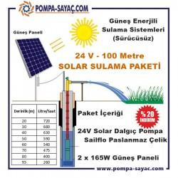24v / 100m Paslanmaz Çelik Solar Sulama Paketi